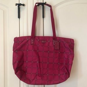 Coach Tote Bag with 2 Pouches